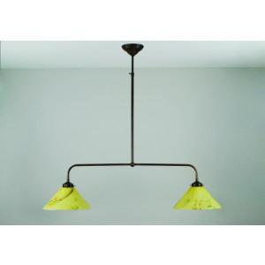 T-lamp gebogen 2 lichts hanglamp