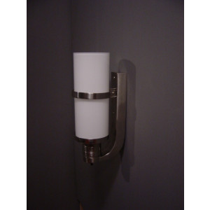 Cilinder met getrapte wandhouder wandlamp