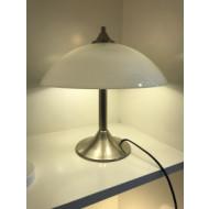 Tafellamp met glazen schaal