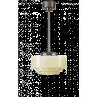 Trapbol lichtgeel hanglamp