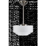 Trapbol opaalwit hanglamp