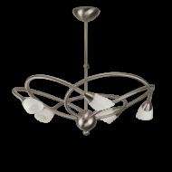 Art Deco Ring kroonluchter (met 5 glazen)
